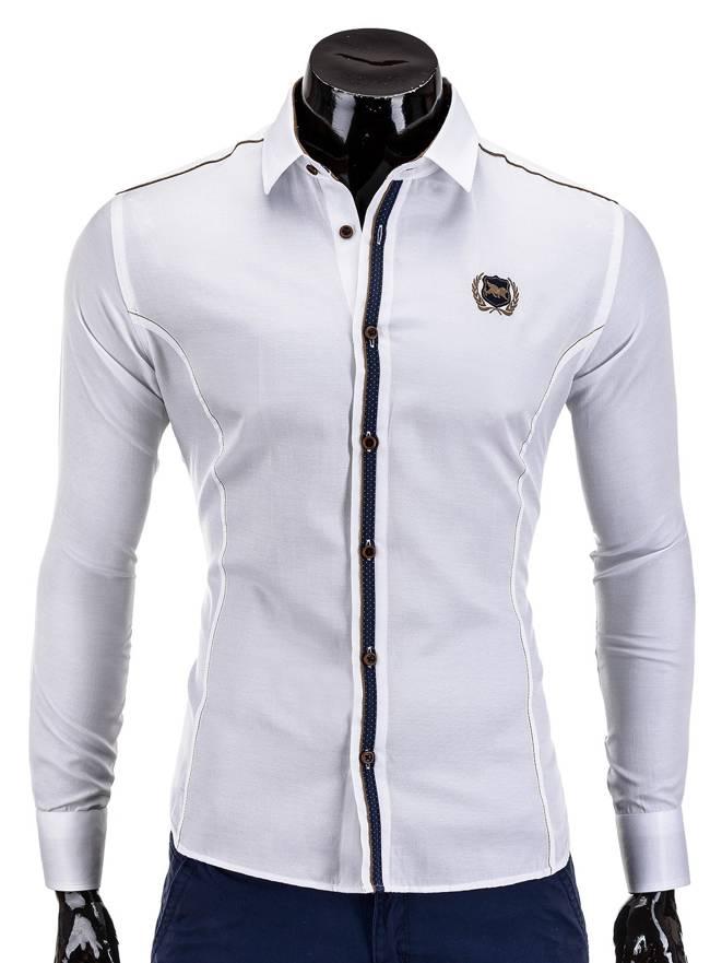 Koszula K241 - BiaŁa
