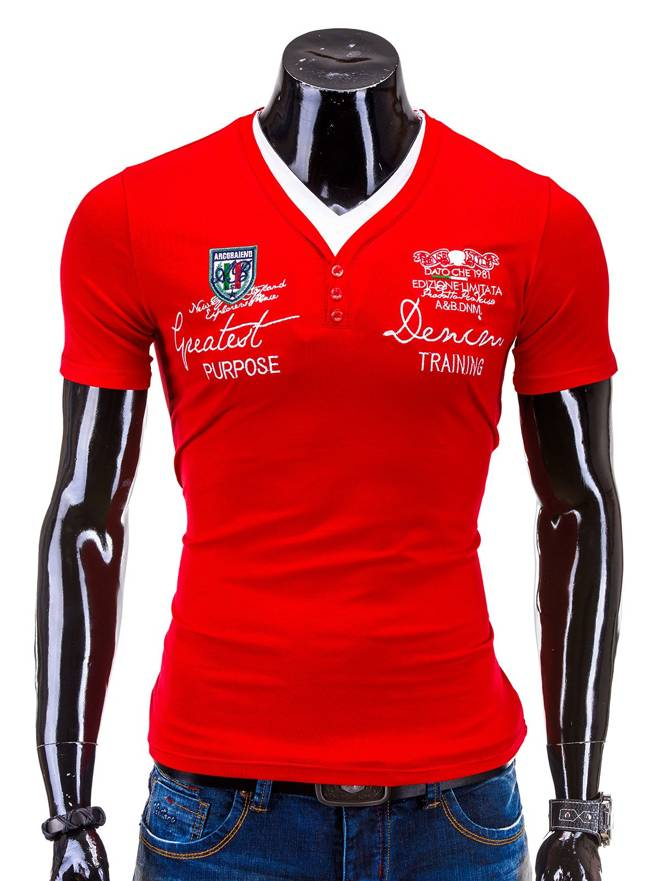 T-shirt S540 - Czerwony