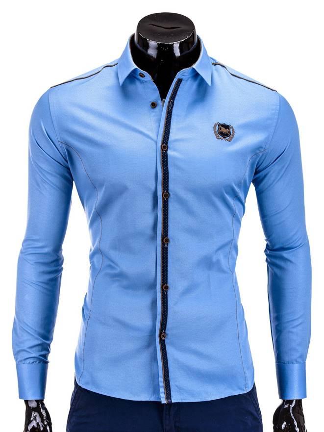 Koszula K241 - BŁĘkitna