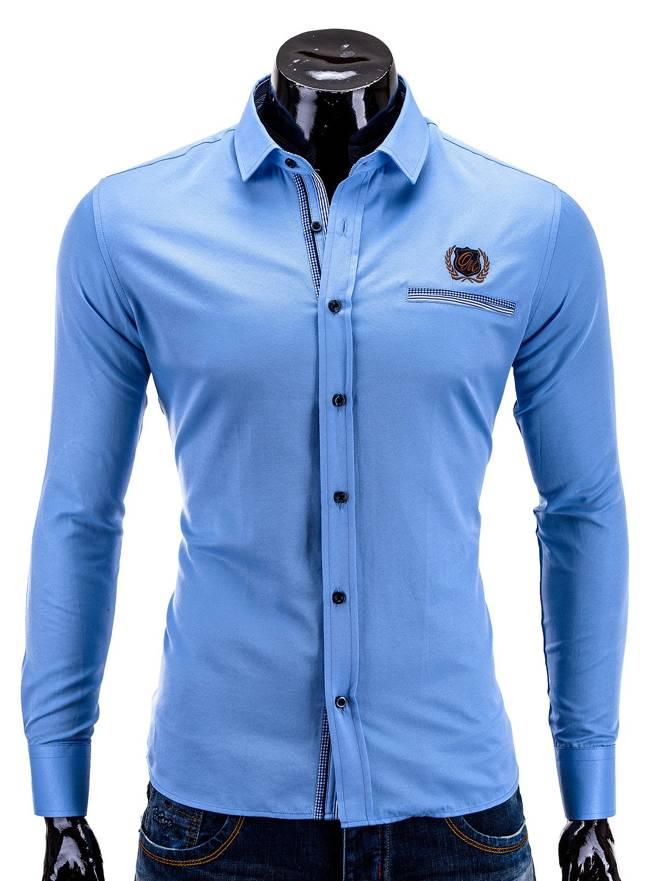 Koszula K256 - BŁĘkitna