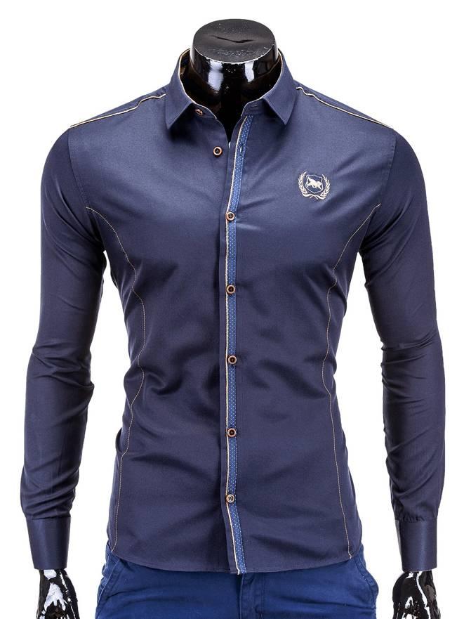Koszula K241 - Granatowa