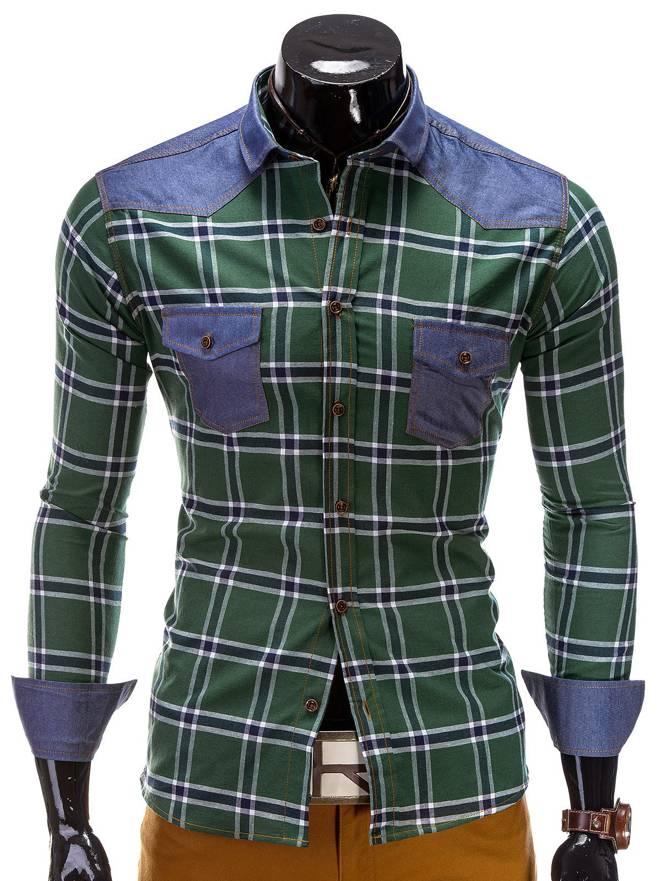Koszula K222 - Zielona