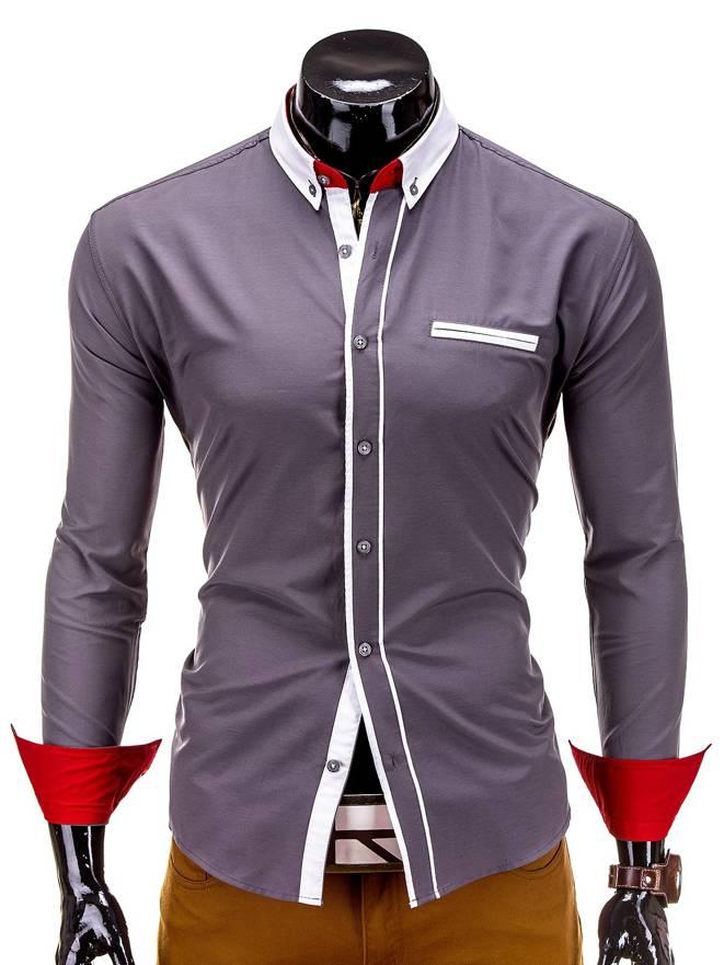 Koszula K215 - Szara