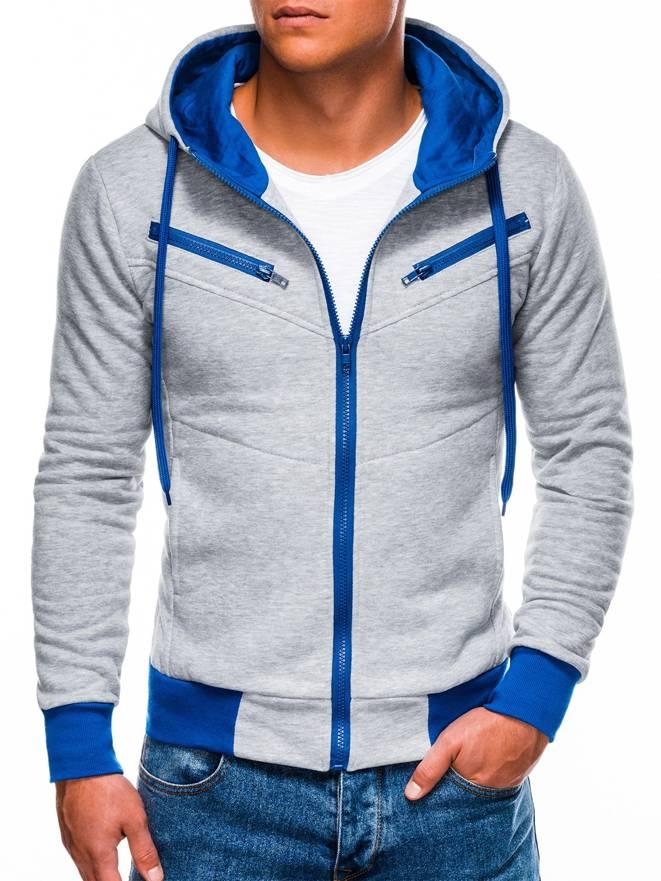 Bluza Amigo - Szaro-niebieska