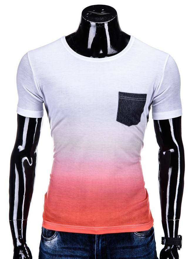 T-shirt S500 - BiaŁo-pomaraŃczowy