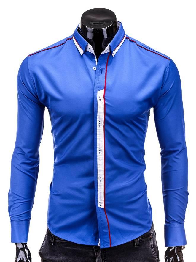 Koszula K155 - Niebieski