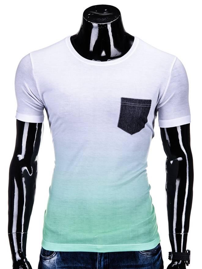 T-shirt S500 - BiaŁo-zielony
