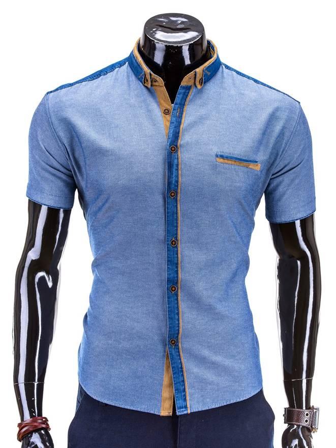 Koszula K267 - Jeansowa