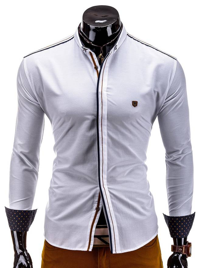Koszula K228 - BiaŁa