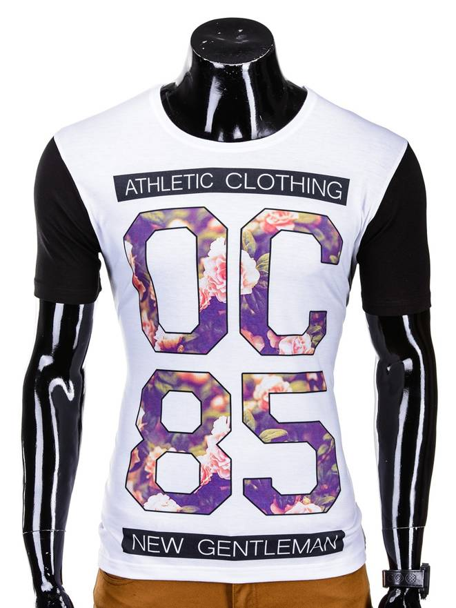 T-shirt S493 - BiaŁy
