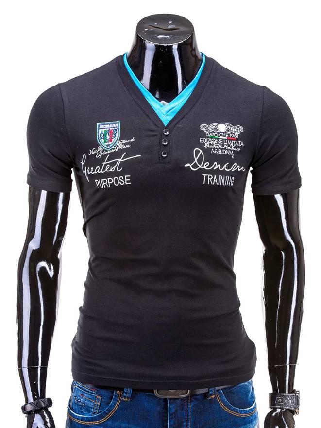 T-shirt S540 - Czarny