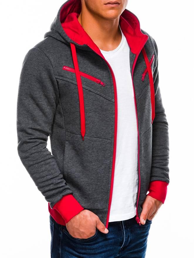 Bluza Amigo - Grafitowo-czerwona