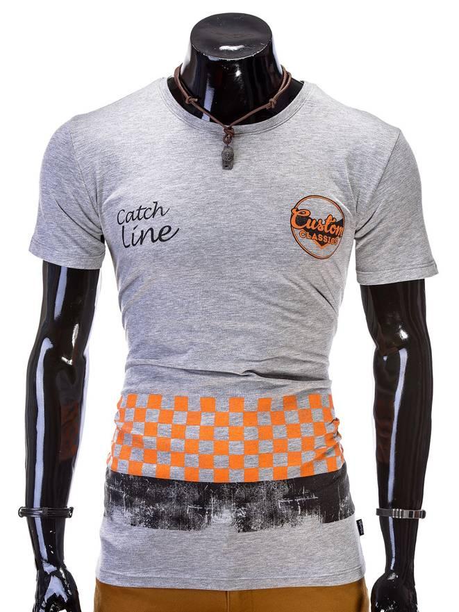 T-shirt S327 - Szara
