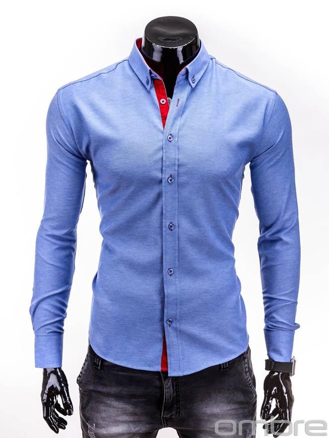 Koszula K135 - Niebieska