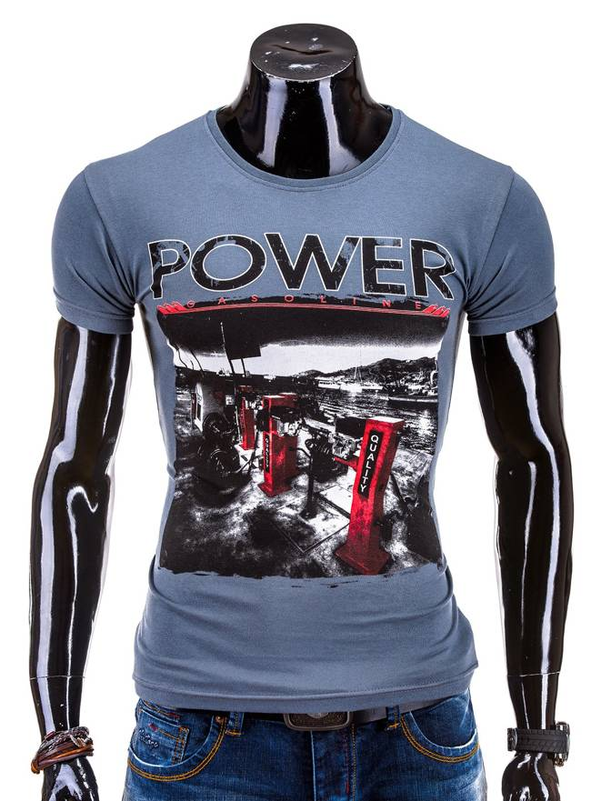 T-shirt S548 - Grafitowy