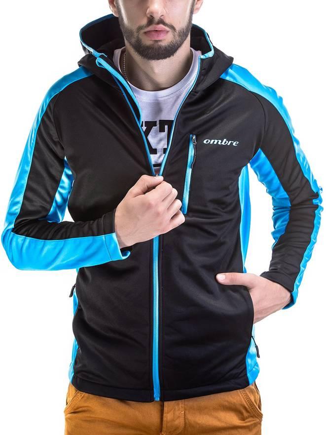 Kurtka Softshell C59 - Czarno-niebieska