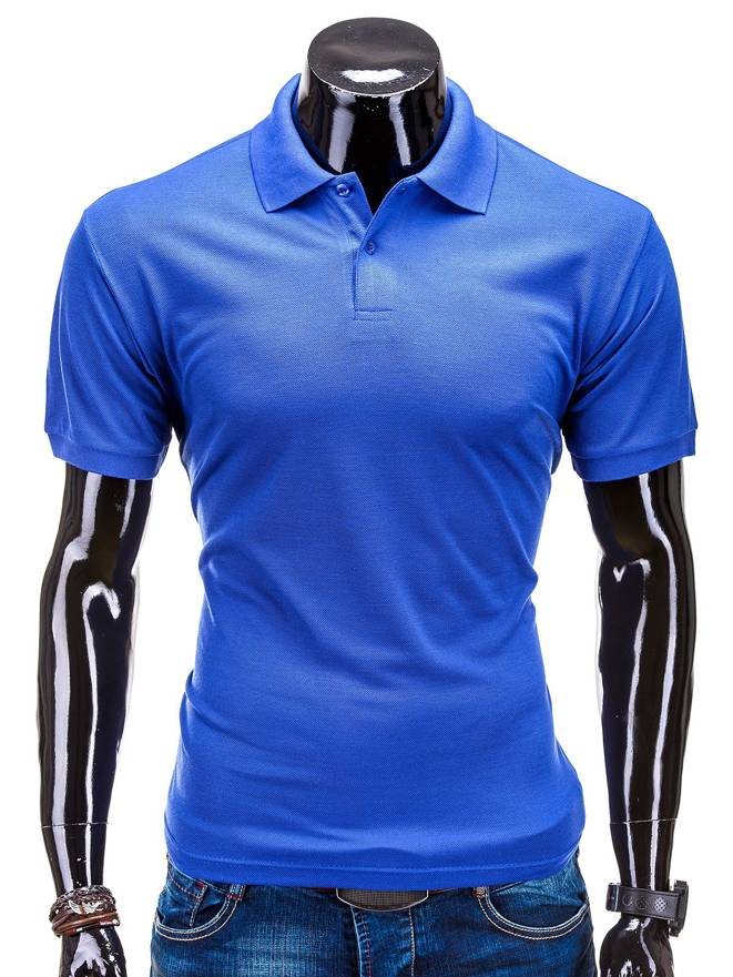 T-shirt S519 - Niebieska