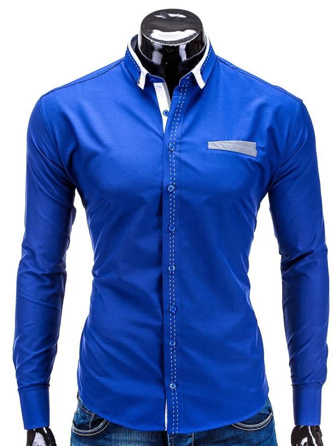 Koszula K229 - Niebieska