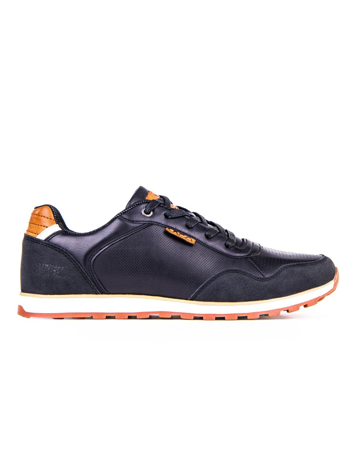Buty MĘskie Sportowe Sneakersy T073 - Czarne