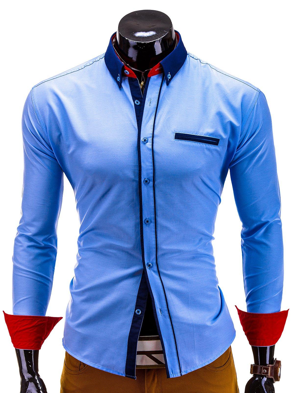 Koszula K215 - BŁĘkitna