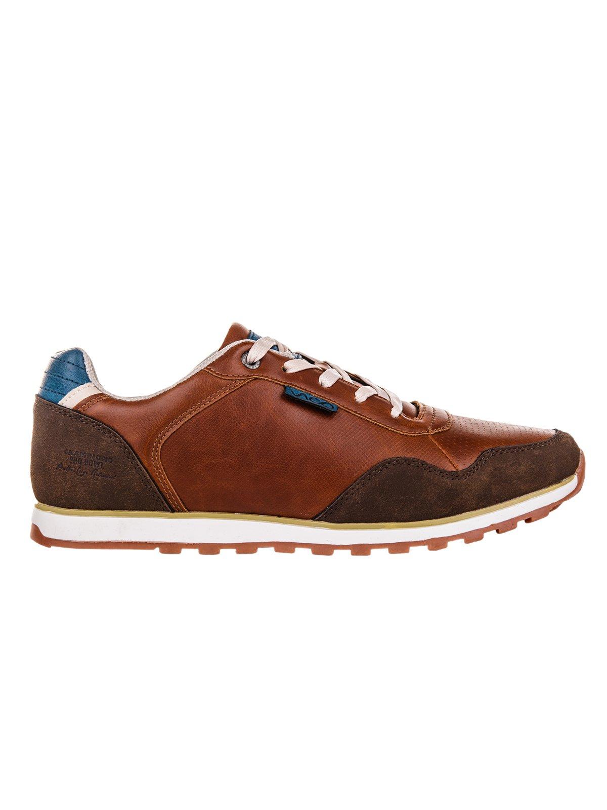Buty MĘskie Sportowe Sneakersy T073 - BrĄzowe