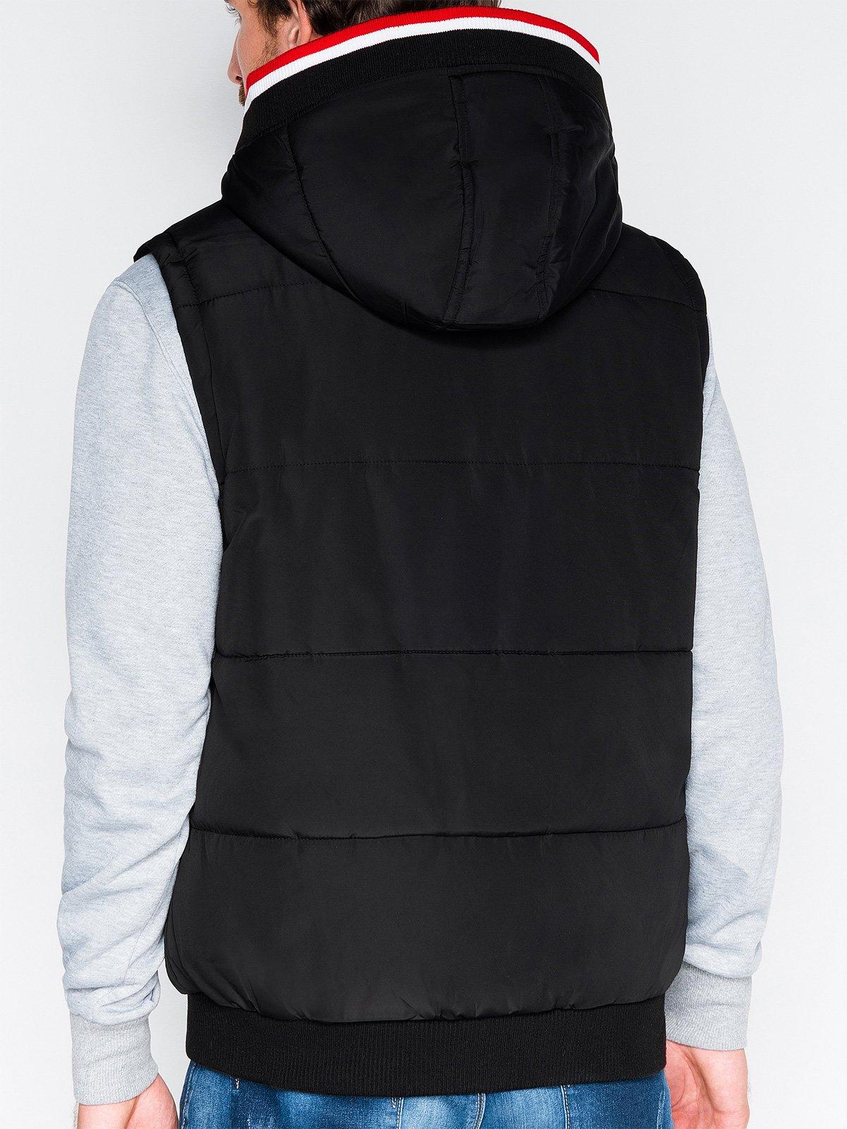 BezrĘkawnik MĘski Pikowany V23 - Czarny
