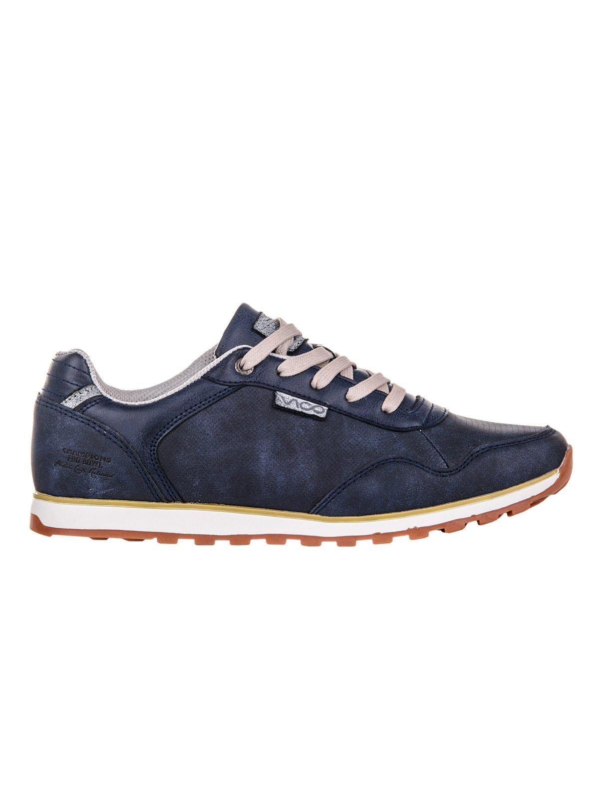 Buty MĘskie Sportowe Sneakersy T073 - Granatowe