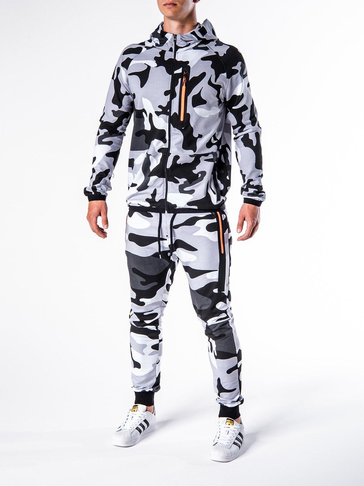 Komplet MĘski Bluza + Spodnie Z17 - Czarny/biaŁy