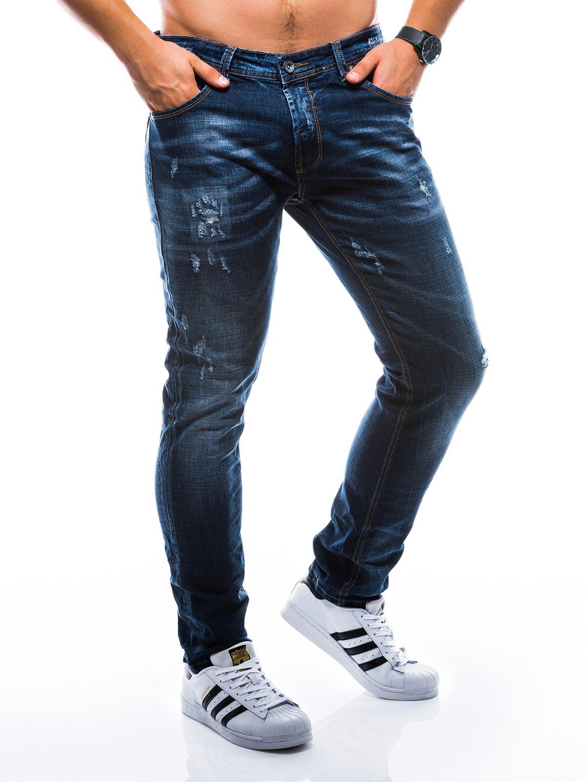 Spodnie męskie jeansowe P788 - granatowe