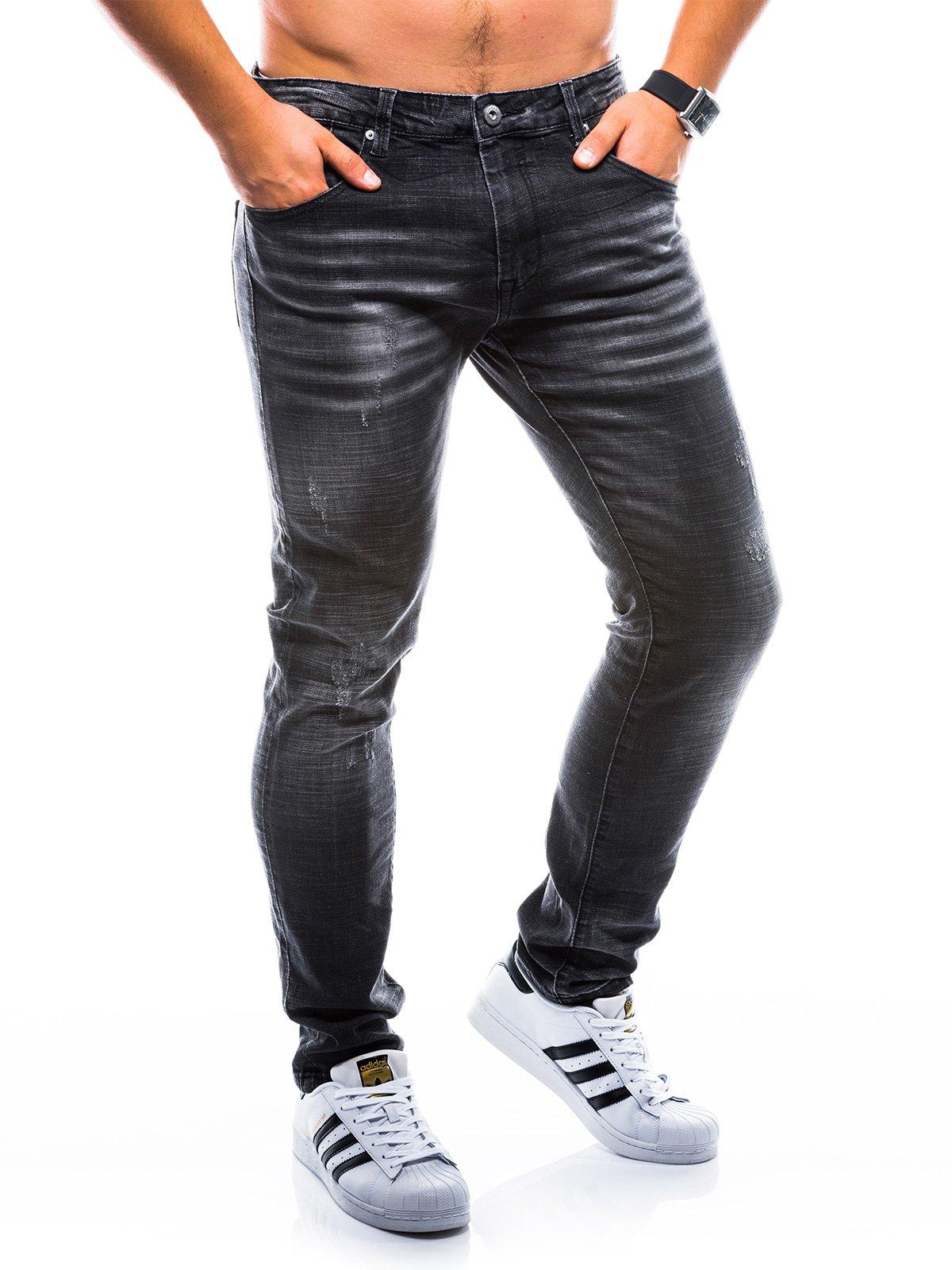 Spodnie męskie jeansowe P769 - czarne