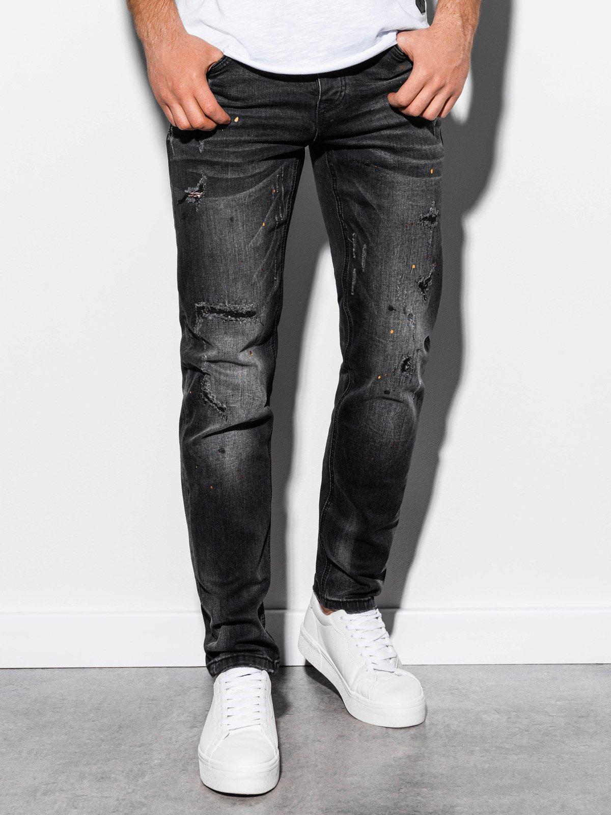 Spodnie męskie jeansowe P859 - czarne
