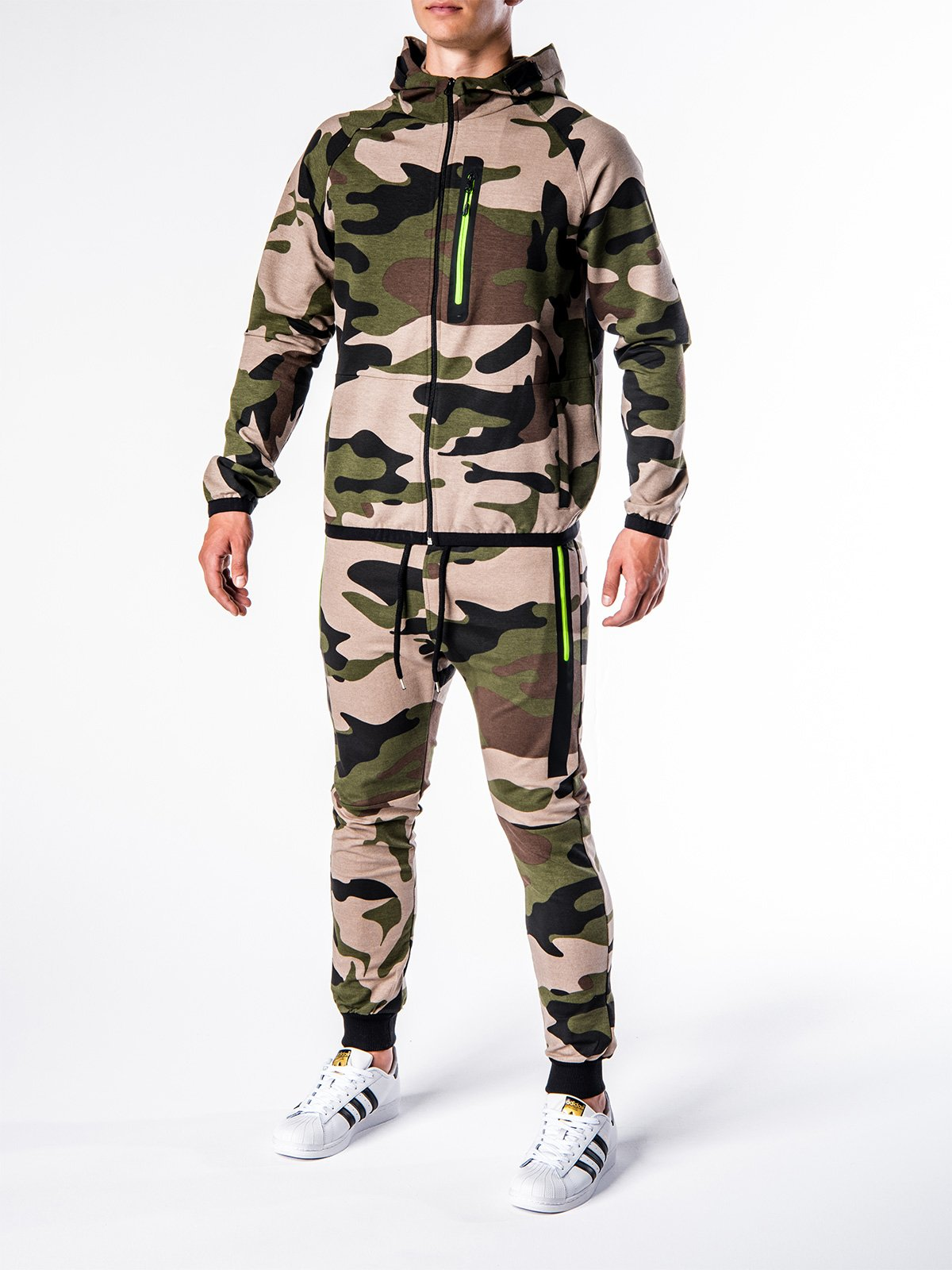 Komplet MĘski Bluza + Spodnie Z17 - Zielony/moro
