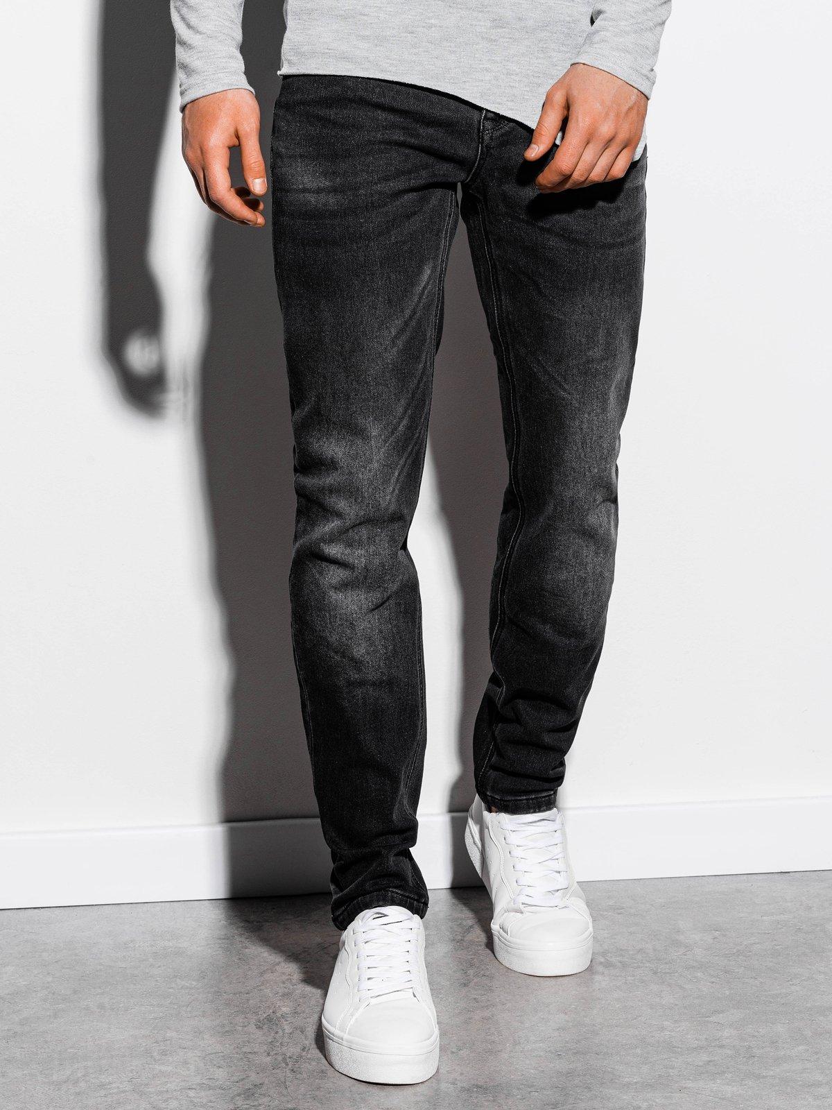 Spodnie męskie jeansowe P864 - czarne