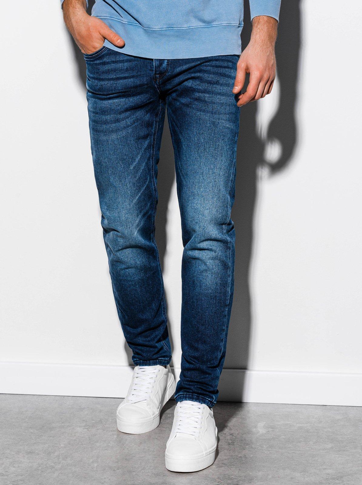 Spodnie męskie jeansowe P864 - niebieskie