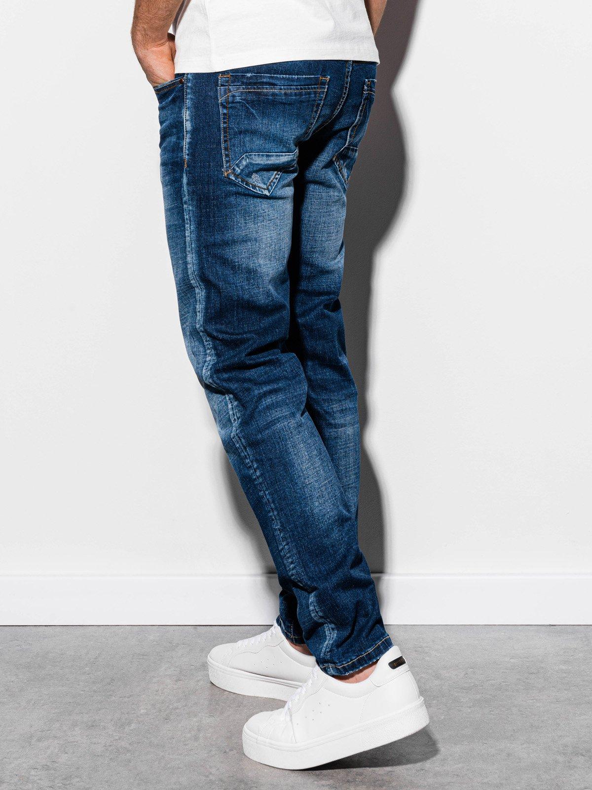Spodnie męskie jeansowe P855 - niebieskie