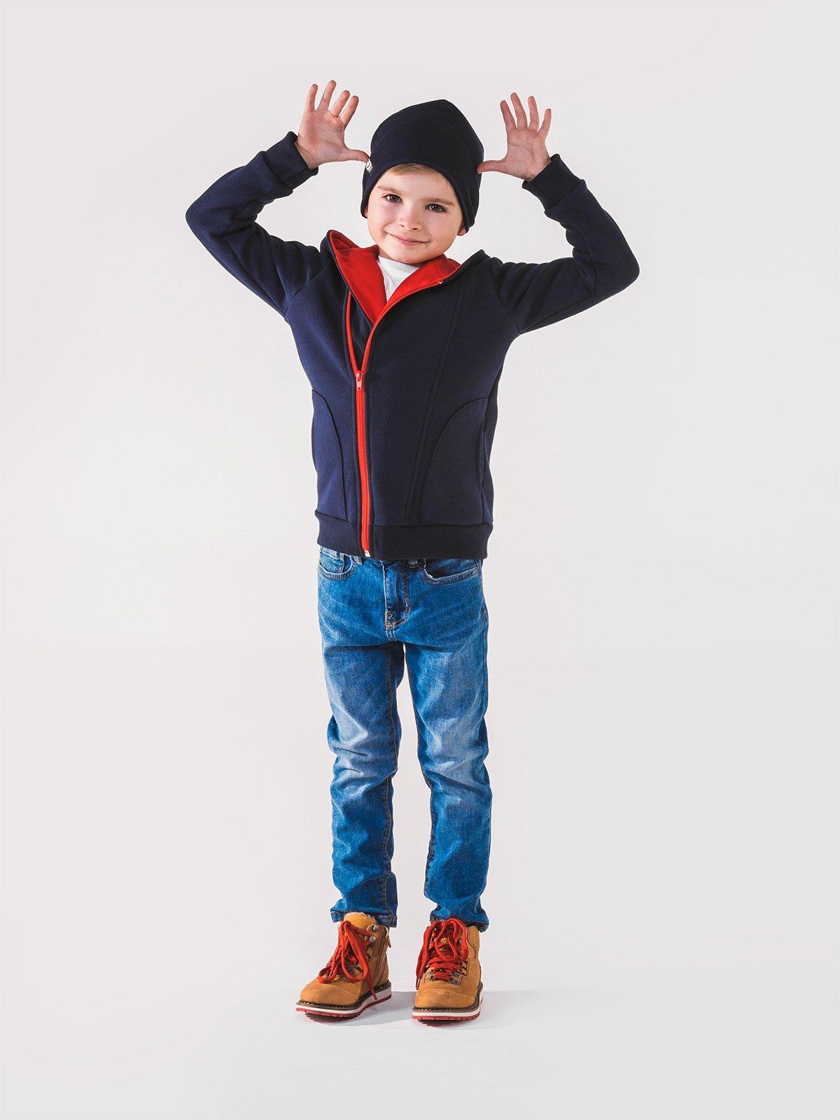 Bluza Kb001 Kids - Granatowa/czerwona