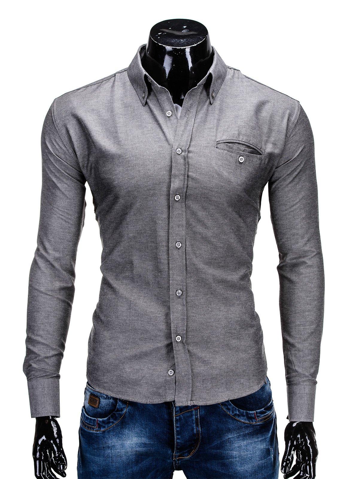 Koszula K298 - Grafitowa