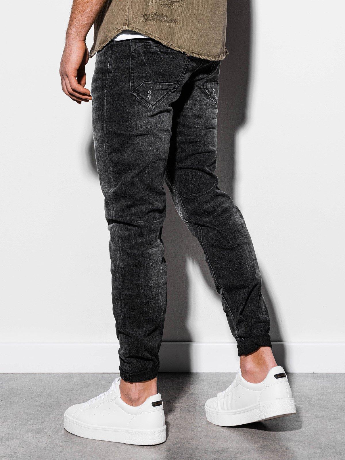 Spodnie męskie jeansowe P855 - czarne