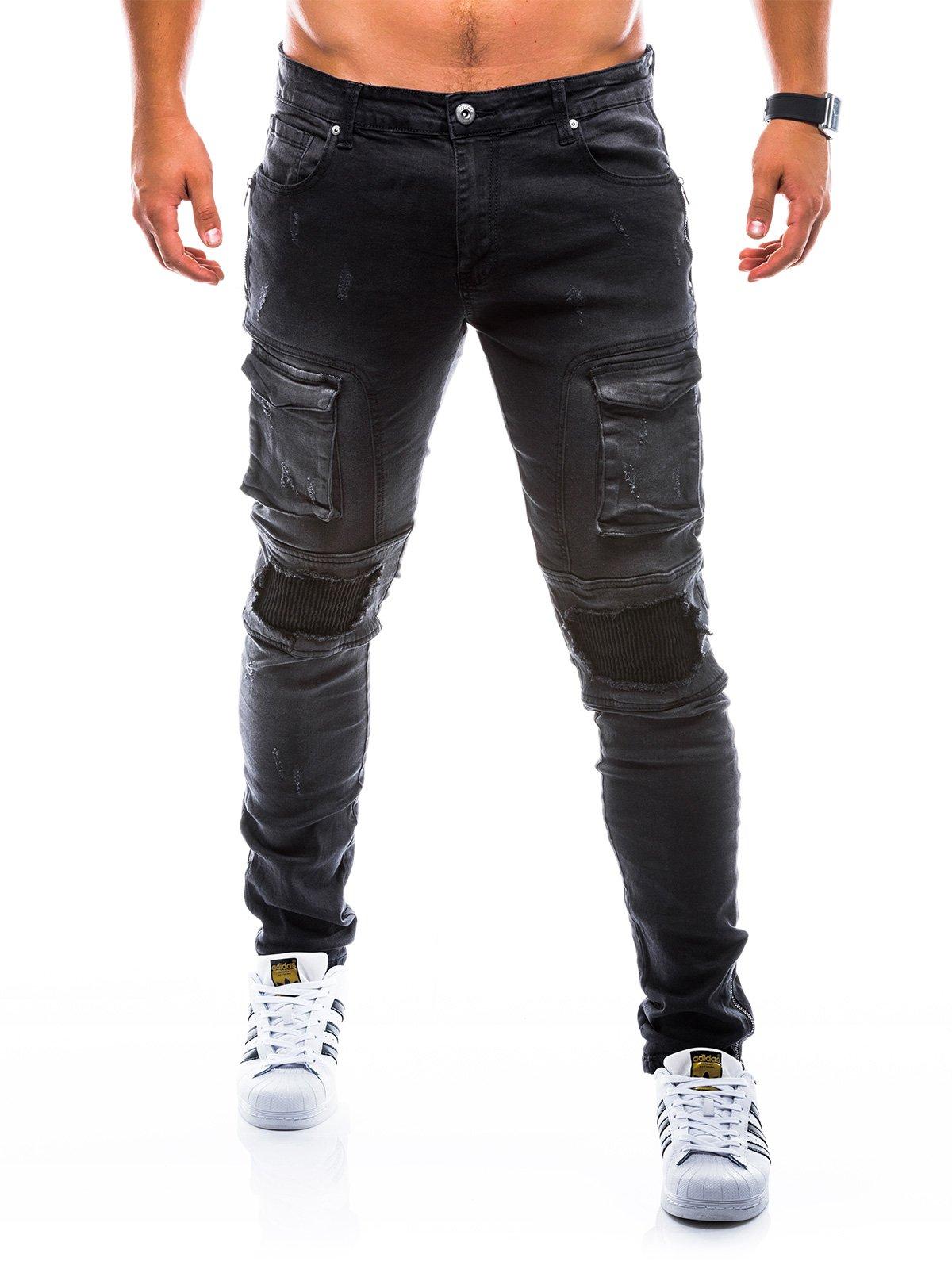 Spodnie męskie jeansowe P773 - czarne