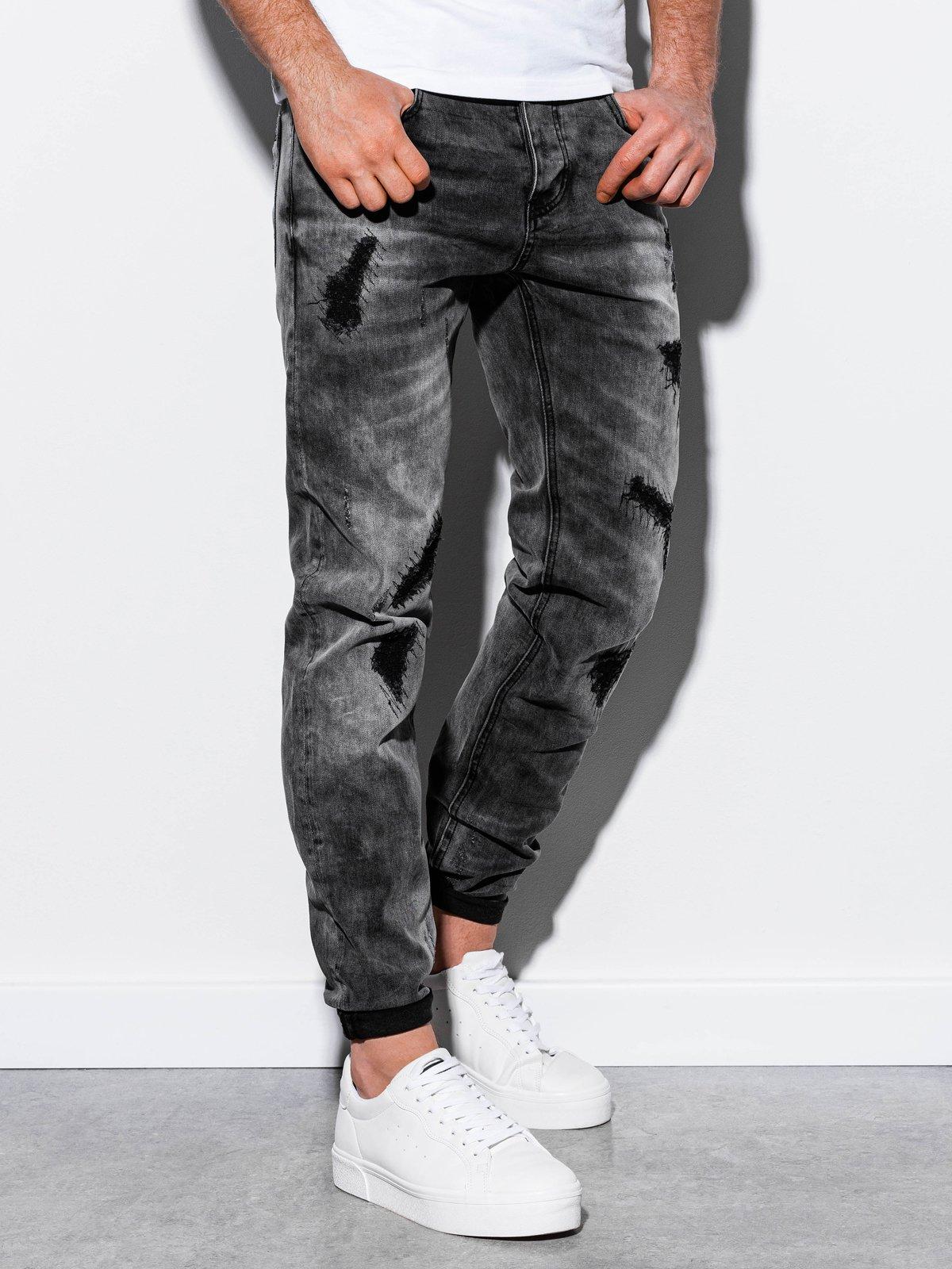 Spodnie męskie jeansowe P861 - czarne