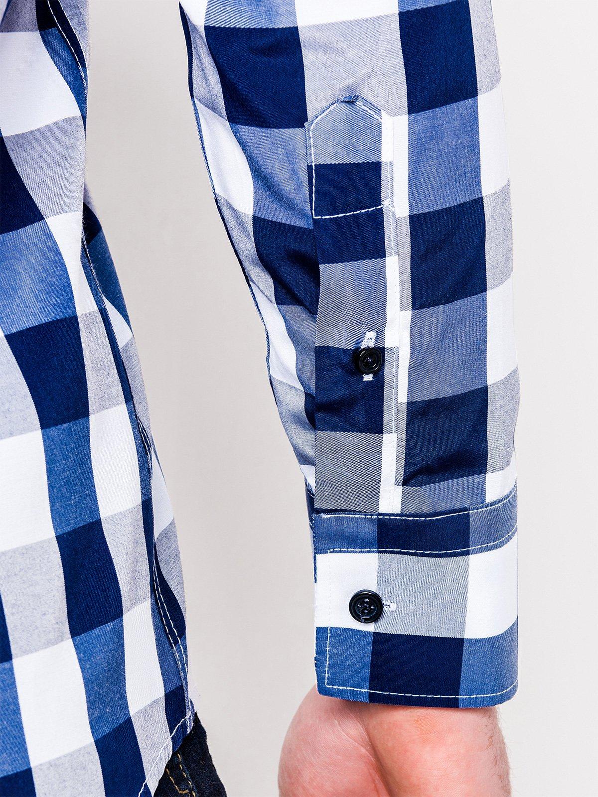 Koszula K282 - Niebieska
