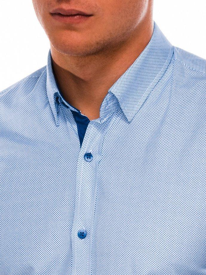 3fc358244bfcfe Przejdź do sklepu · Koszula męska elegancka z długim rękawem K478 –  biała/niebieska | Ombre | Koszule męskie