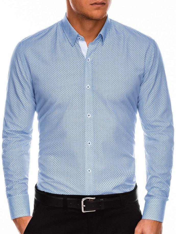 dfc35f0f01dcdc Przejdź do sklepu · Koszula męska elegancka z długim rękawem K469 – biała/ granatowa | Ombre | Koszule męskie