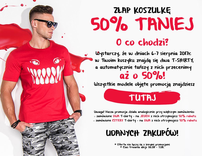 Drugi t-shirt 50% taniej