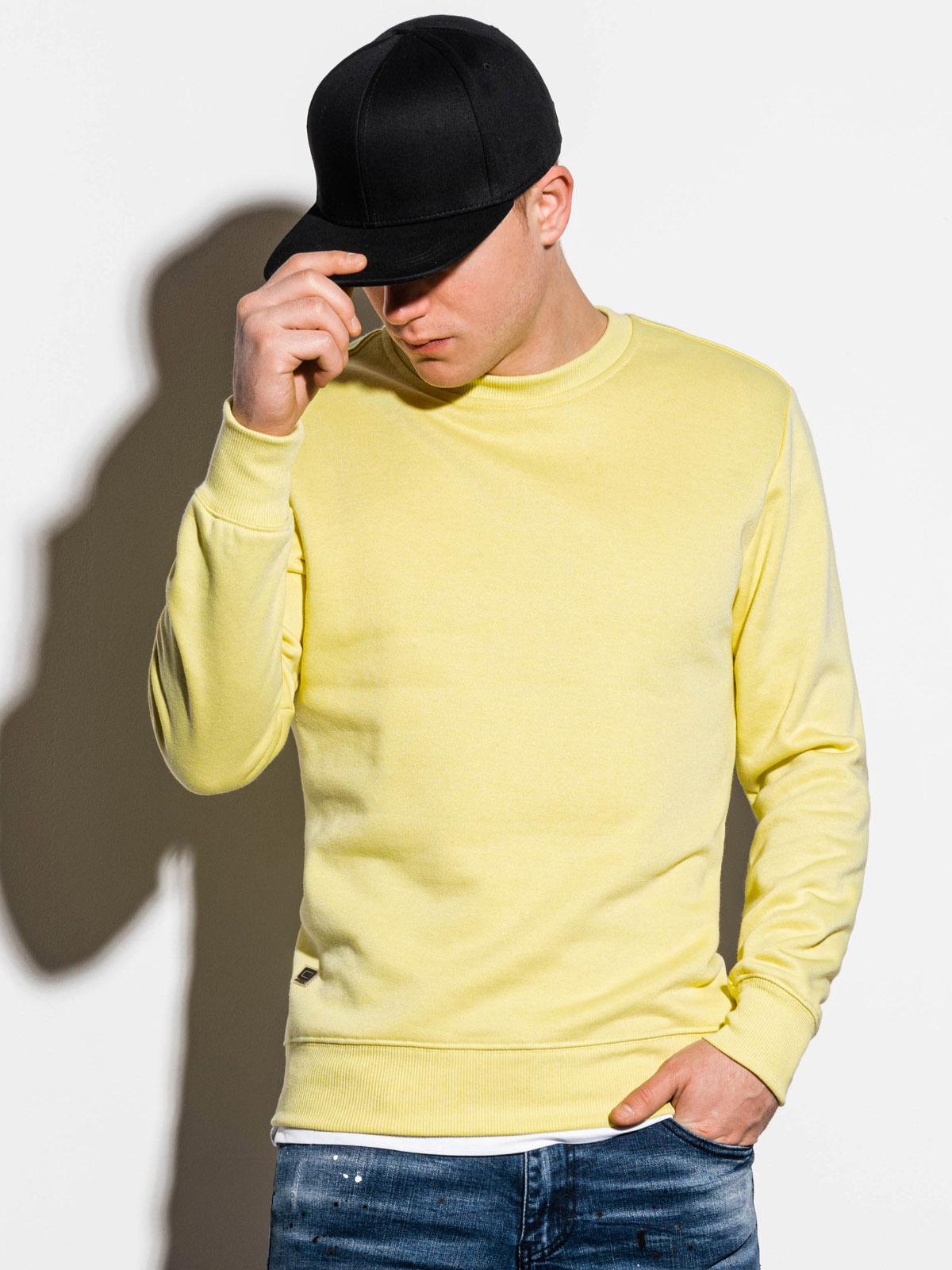 Bluza męska bezkaptura B978 - jasnożółta