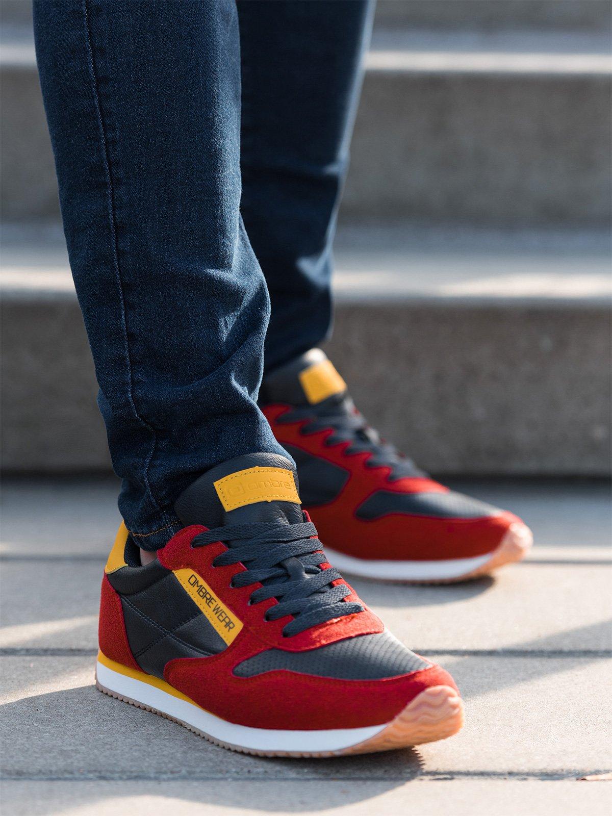 Buty Meskie Sneakersy T310 Czerwone Sklep Ombre Pl