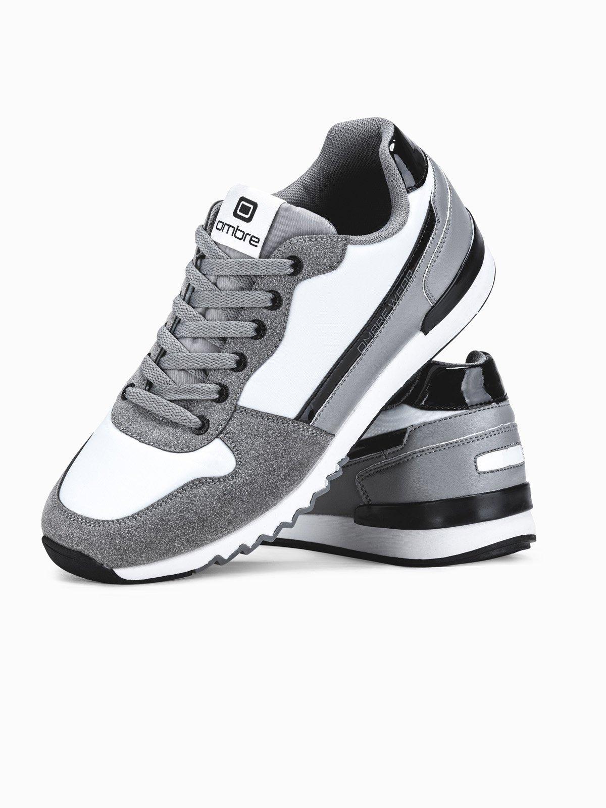 Buty męskie sneakersy T337 - szare