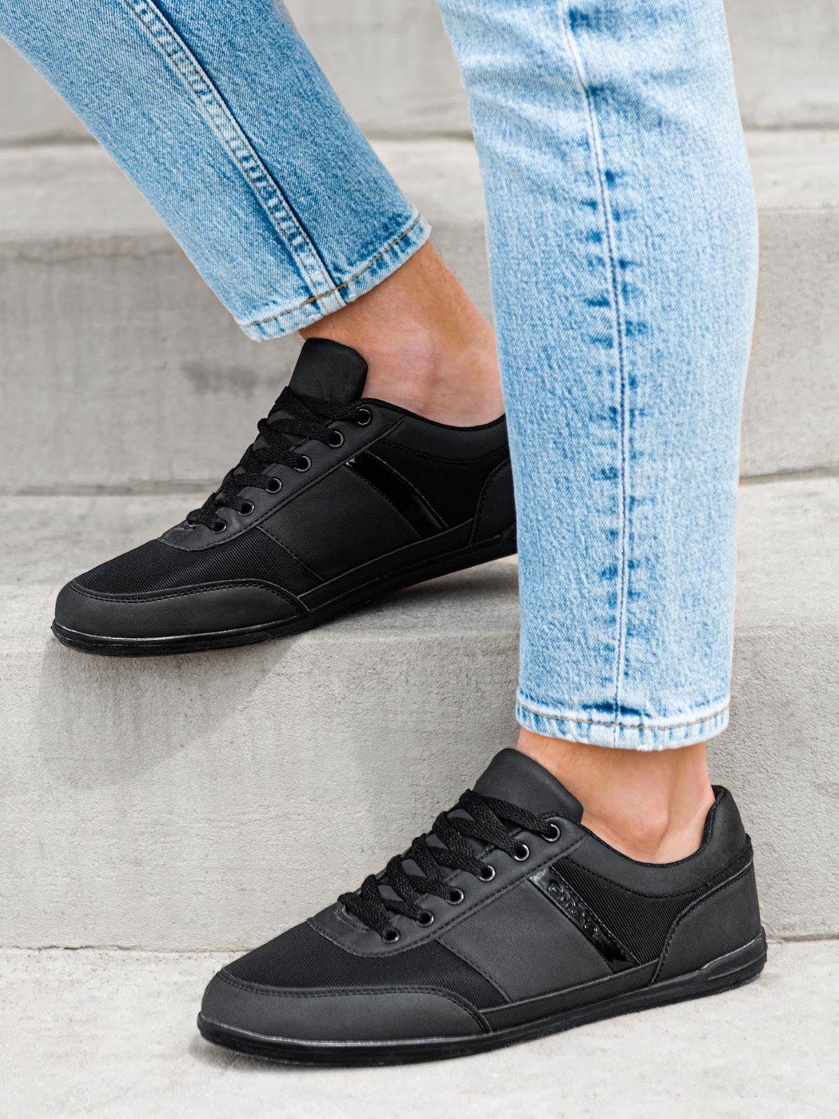 Buty męskie sneakersy T338 - czarne
