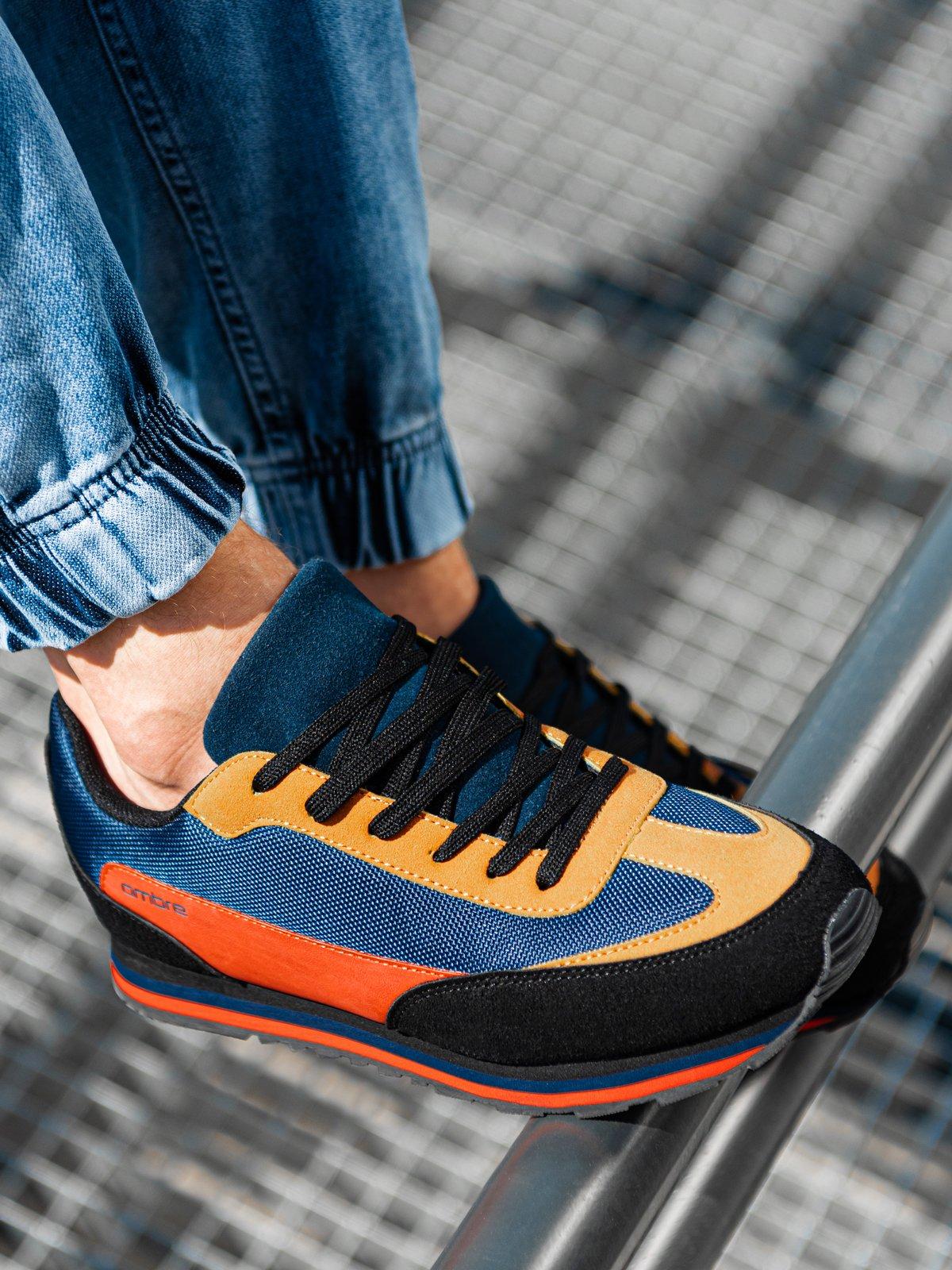 Buty męskie sneakersy T349 - żółte