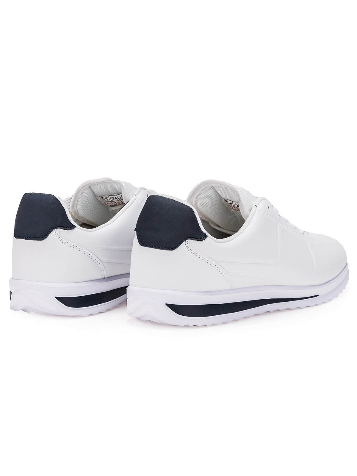 BUTY MĘSKIE SPORTOWE SNEAKERSY T200 BIAŁE Ombre Sneakersy męskie białe w Ombre